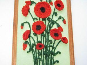 Картина - панно Красные маки.. Ярмарка Мастеров - ручная работа, handmade.