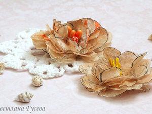 Мастерим пышные цветы из пакетиков для чая. Ярмарка Мастеров - ручная работа, handmade.
