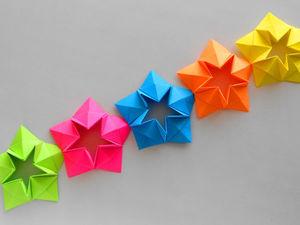 Создаем праздничную гирлянду из бумаги своими руками. Ярмарка Мастеров - ручная работа, handmade.