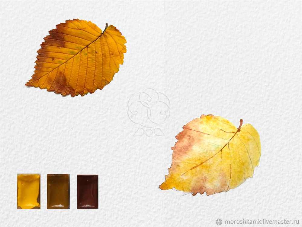 Drawing an Autumn Leaf with Watercolours, фото № 10