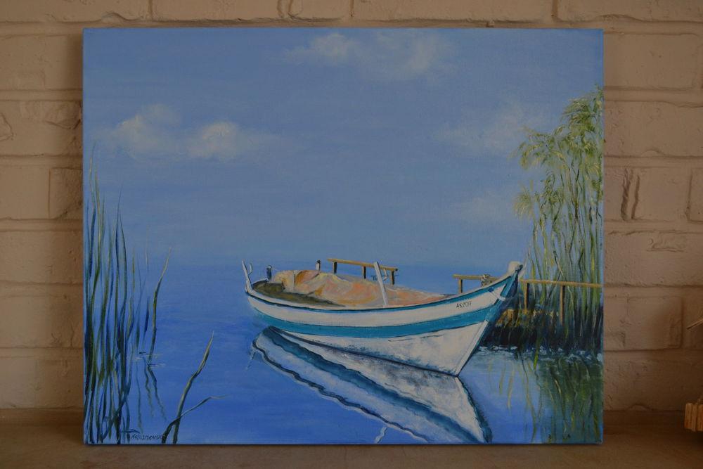живопись, картину, пейзаж, заводь, река, масляные краски, купить картину, картина на продажу, умиротворение, берег
