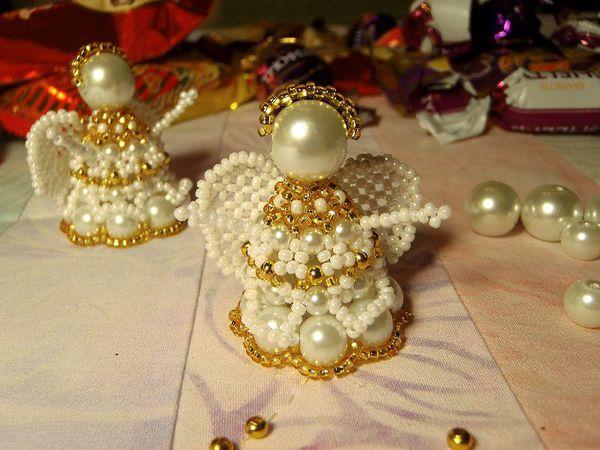 Делаем милого ангелочек из бисера | Ярмарка Мастеров - ручная работа, handmade