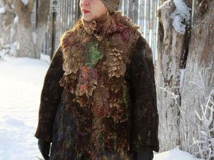 Аукцион на валяное пальто шубку