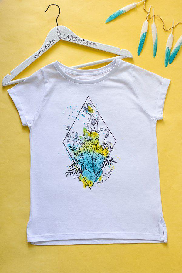 роспись по ткани, рисунки на одежде