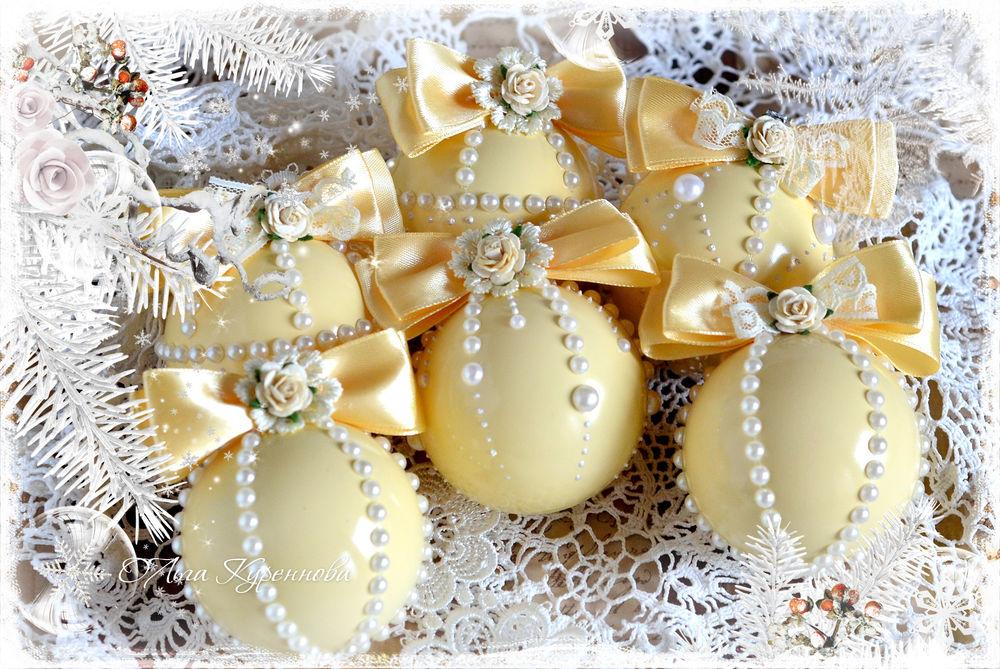 подарок женщине, ёлочные шары