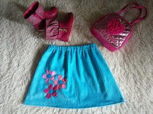 Пока дочка спит. Шьем без выкройки вельветовую юбочку с аппликацией. Ярмарка Мастеров - ручная работа, handmade.