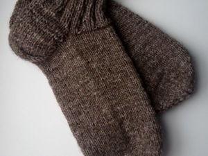 Начинаем вязать носочки взрослые пуховые. Ярмарка Мастеров - ручная работа, handmade.