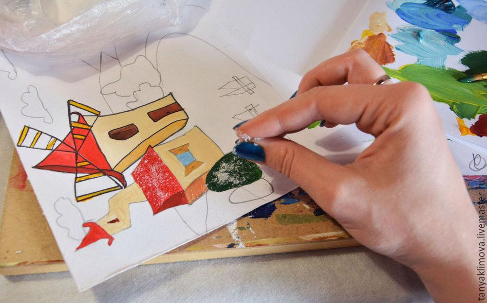 Развиваем детей с помощью аппликации «сказочный город», фото № 13