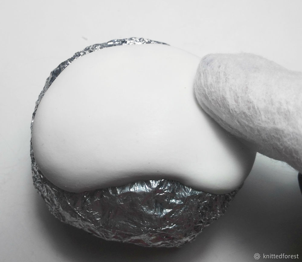 Процесс создания авторской игрушки из полимерной глины. Часть 1. Лепка мордочки, фото № 5