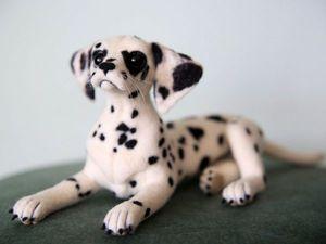 Новая игрушка. Валяная собака породы далматин. Еще фото.   Ярмарка Мастеров - ручная работа, handmade