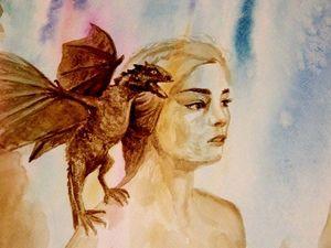 Рисуем портрет Daenerys из телесериала «Игра Престолов». Ярмарка Мастеров - ручная работа, handmade.