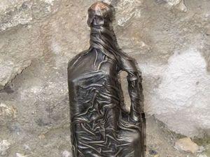 Бутыль для винища. Для крымского винища. Бутыль в коже.. Ярмарка Мастеров - ручная работа, handmade.