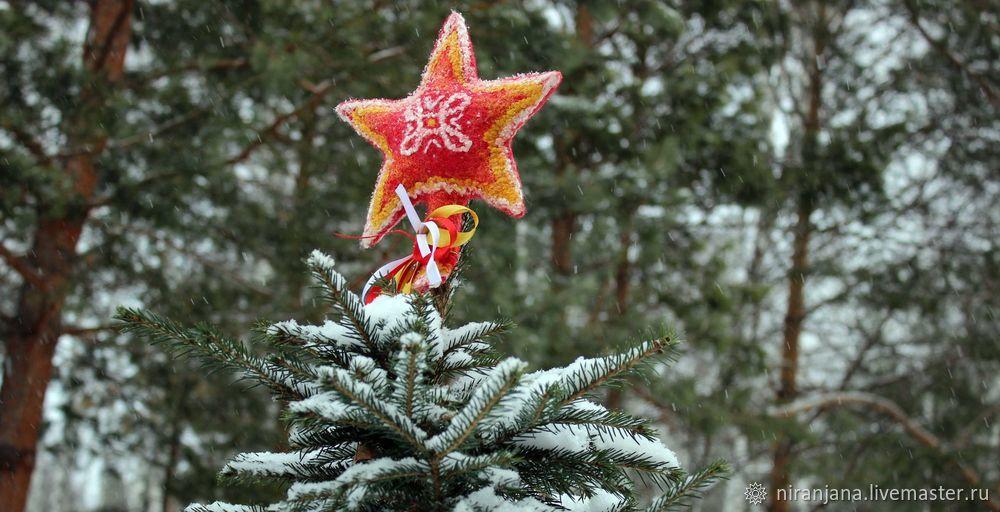 скачать выкройку, валяная игрушка, мк елочная игрушка, звезда на маковку, мк игрушки на елку