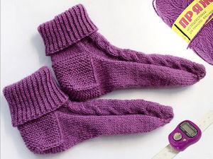 Как связать носки без шва на круговых спицах | Ярмарка Мастеров - ручная работа, handmade