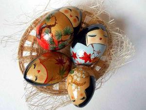Пасхальное яйцо- Куколка кокэси | Ярмарка Мастеров - ручная работа, handmade