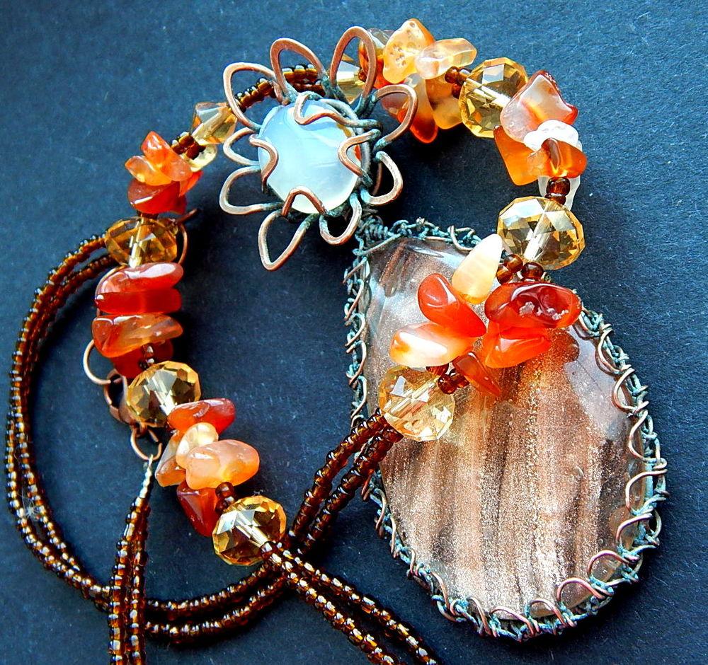 браслет медный, кружевной оникс, музыкальный ключ, распродажа украшений, аукцион на браслет, аукцион на кулон
