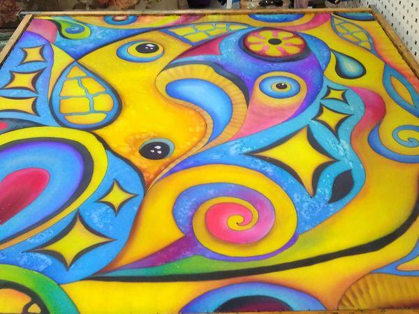 Абстракция для Алины! Крепдешин 140-140 см | Ярмарка Мастеров - ручная работа, handmade