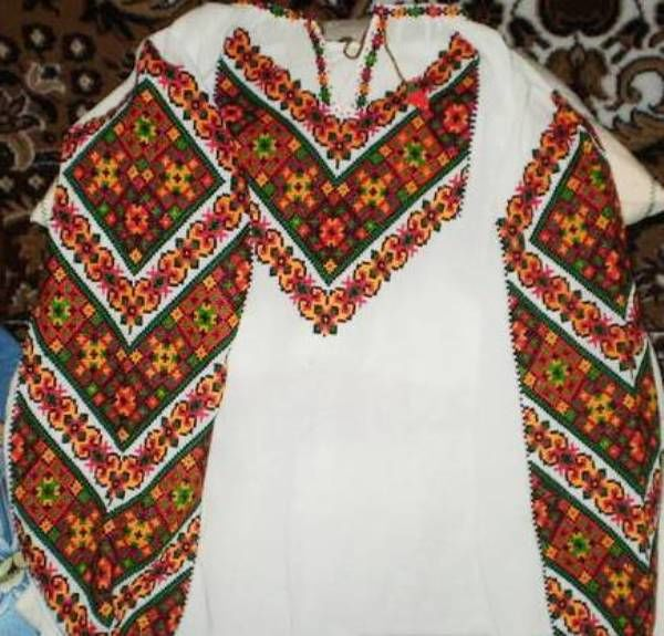славянская рубаха, натуральное полотно