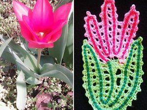 Плетем кружевную брошь-цветок. Ярмарка Мастеров - ручная работа, handmade.