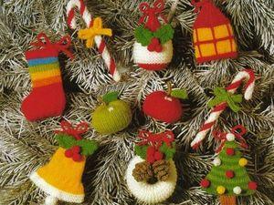 Идеи новогодних вязаных украшений. Ярмарка Мастеров - ручная работа, handmade.