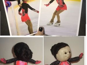 Кукла-фигуристка в наряде по Вашему фото. Ярмарка Мастеров - ручная работа, handmade.