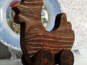 «Пасхальный Кролик»  или другая игрушка  в стиле «рустик», различные методы состаривания дерева, браширование   Ярмарка Мастеров - ручная работа, handmade