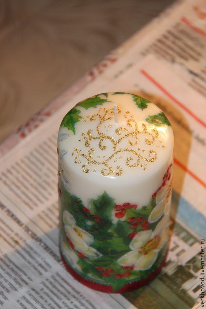 декорирование свечи