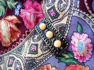 Зажимы и броши для платков, или Чем приручить непослушную шаль. Ярмарка Мастеров - ручная работа, handmade.
