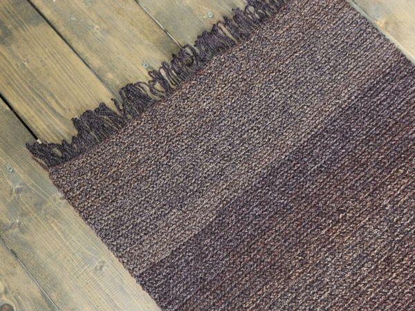 Как я вязала коричневый коврик. | Ярмарка Мастеров - ручная работа, handmade