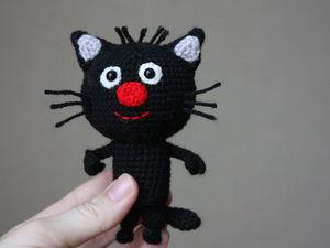 Вяжем очаровательного котенка Сажика. Ярмарка Мастеров - ручная работа, handmade.