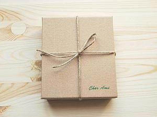 How to Make a Stylish Gift Box of Cardboard   Livemaster - handmade