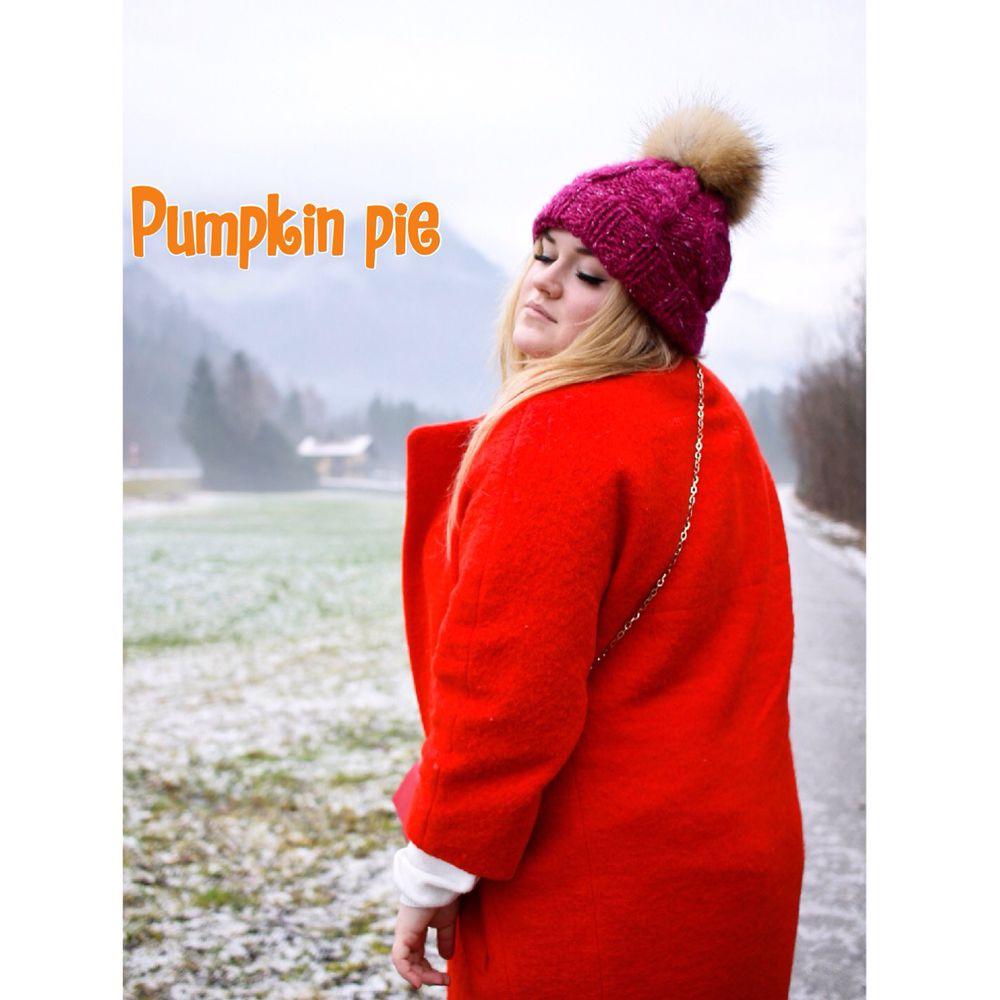 фотосессия, шапка с помпоном, pumpkin pie, вязание, красивая девушка, холод, снуд