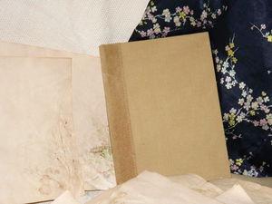 Зимнее крымское разнотравье .Блокнот ручной работы.Самый сложный вариант бумаги для блокнота.Простая обложка из хлопка .Полуфабрикат для декорирования | Ярмарка Мастеров - ручная работа, handmade