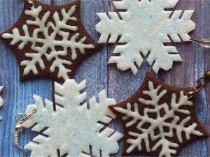 Делаем красивые серьги со снежинками: видео мастер-класс. Ярмарка Мастеров - ручная работа, handmade.