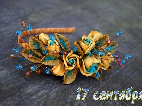 Анонс мастер-класса: ободок с розами из запекаемой полимерной глиной | Ярмарка Мастеров - ручная работа, handmade