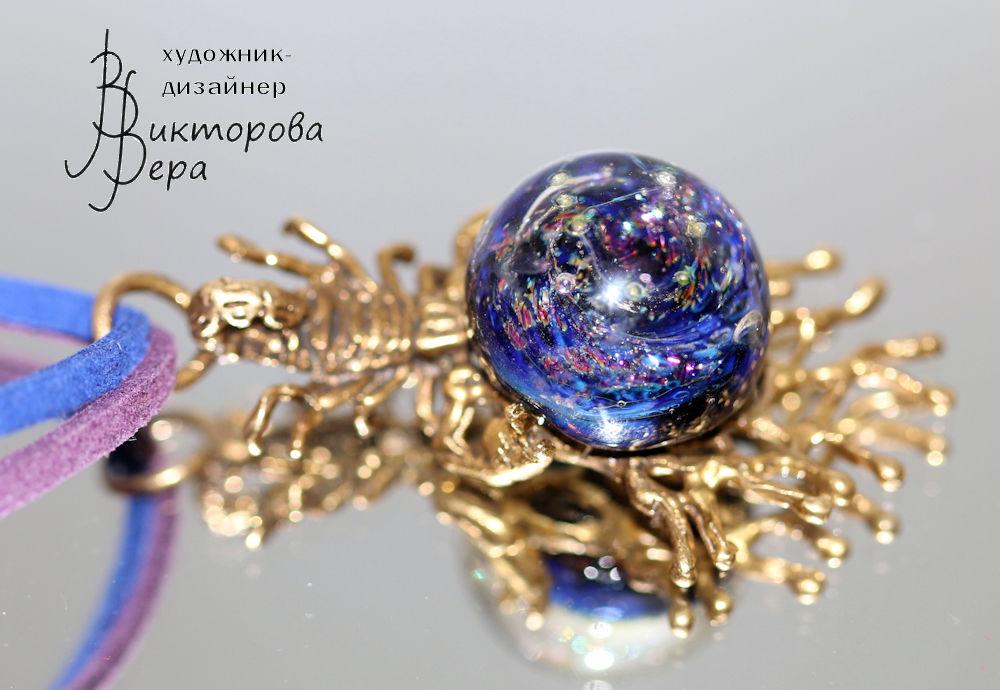 кольцо скорпион, авторский лэмпворк