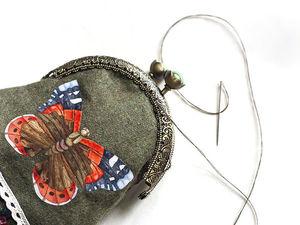 Мастер-класс: как сделать сумочку-кошелек с фермуаром. Ярмарка Мастеров - ручная работа, handmade.