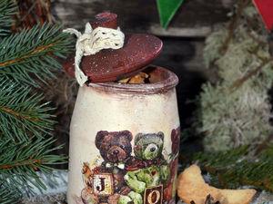 Баночка с Новым годом.. Ярмарка Мастеров - ручная работа, handmade.