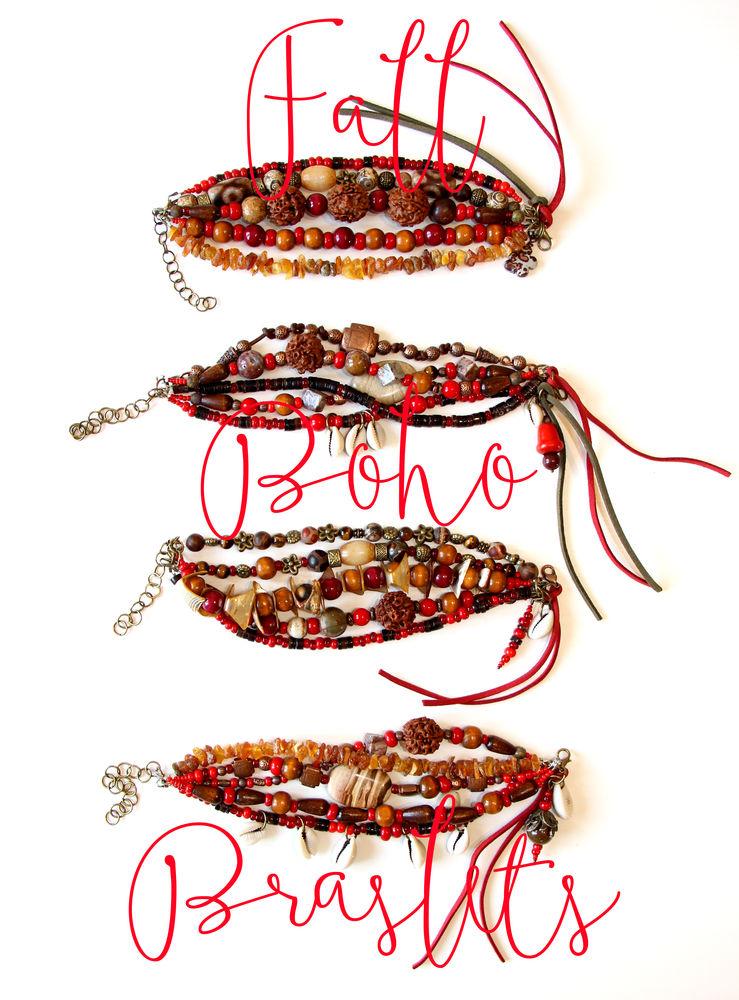 коричневый, украшения, браслет из камней, подарок девушке женщине, рустик, бохо украшения, хиппи стиль