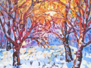 Веселяй февраль - картина на холсте.. Ярмарка Мастеров - ручная работа, handmade.