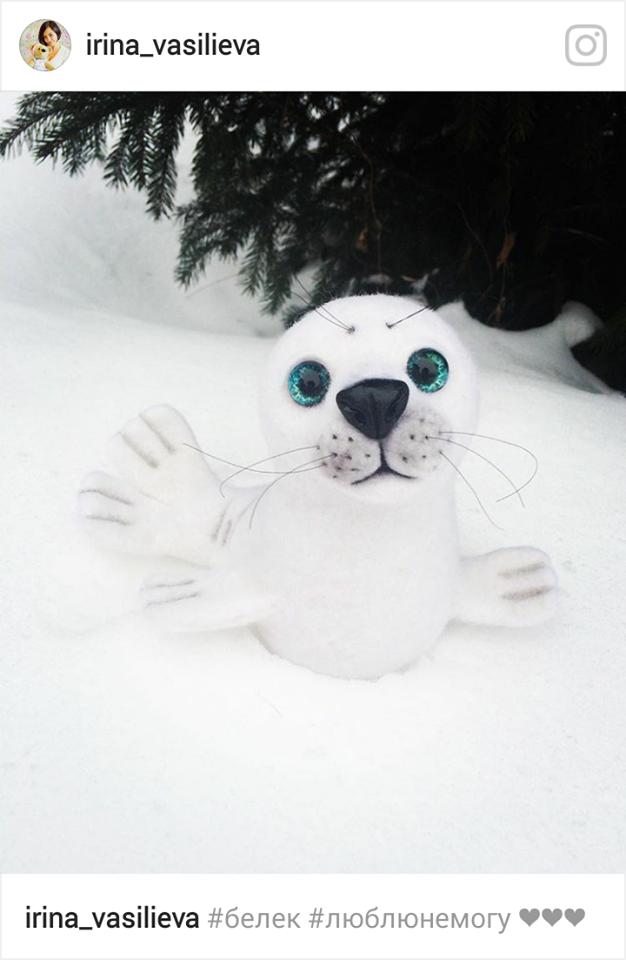 мк по сухому валянию, детеныш тюленя