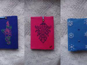 Делаем двустороннюю обложку для книги или блокнота с вышивкой. Ярмарка Мастеров - ручная работа, handmade.