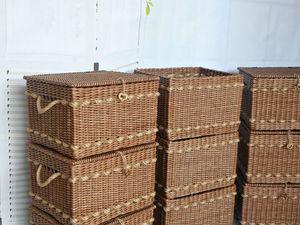 Фотоотчет плетеных коробов для Елены. Ярмарка Мастеров - ручная работа, handmade.