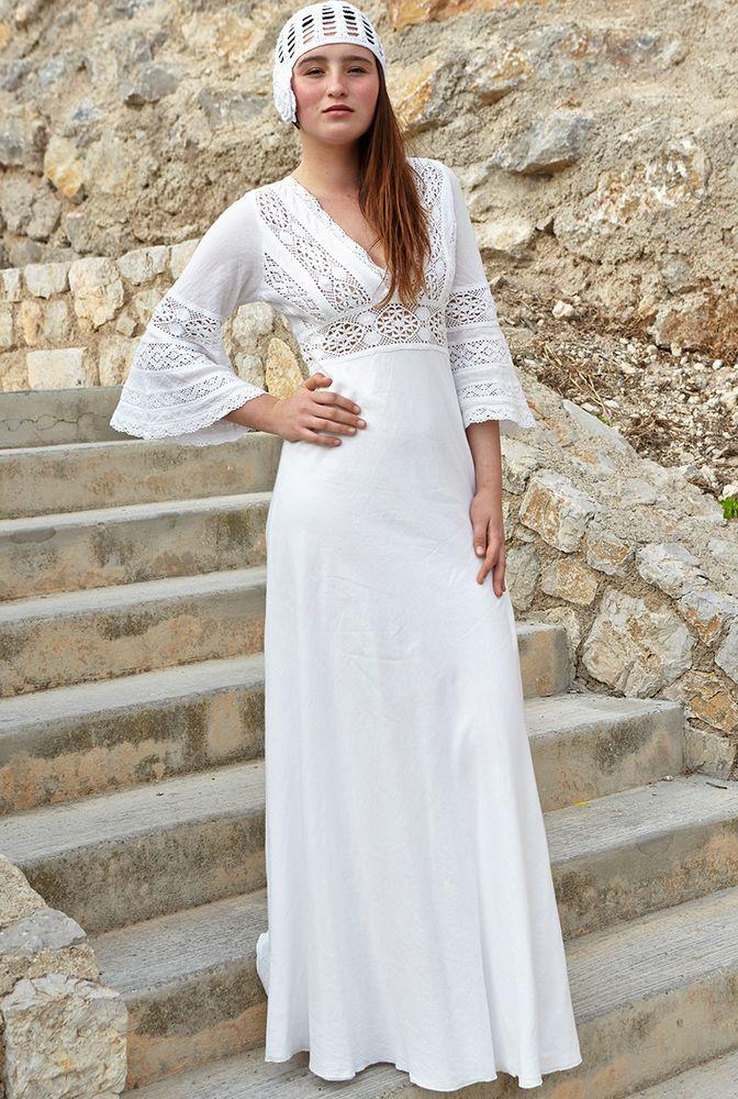 Белое бохо, или Шикарная одежда для королевы летнего пляжа, фото № 83