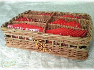 Корзинка для чайных пакетиков | Ярмарка Мастеров - ручная работа, handmade