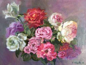 «Крымские розы»- новая картина маслом. Ярмарка Мастеров - ручная работа, handmade.