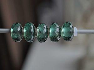 Искусственный зеленый аметист для Pandora и Trollbeads в наличии. Ярмарка Мастеров - ручная работа, handmade.