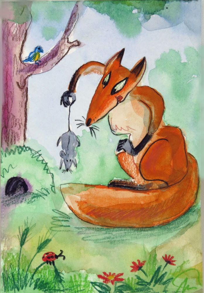 Лис и мышек в картинках