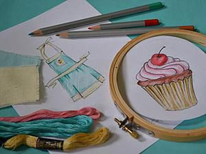Cute Apron DIY with a Cupcake for a Little Girl. Livemaster - handmade