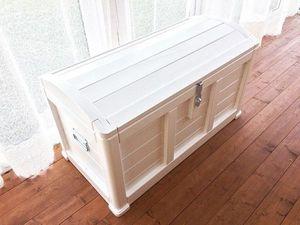 Для хранения вещей, сундук из дерева в белом цвете. Ярмарка Мастеров - ручная работа, handmade.